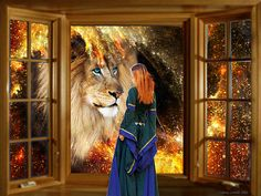 face to face with the lion of the tribe of judah