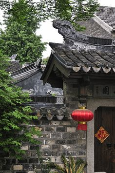 Traditional House in Suzhou City, Jiangsu Province, China ||| For an authentic taste of city life in old Suzhou, a stroll down Pingjiang Street's flagstone lanes is probably best. Quiet, leafy and slow-paced, the street is lined with old Chinese houses.