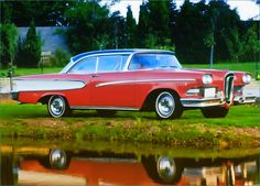 Edsel Pacer, 1958 The material which I can produce is suitable for different… Ford Company, Ford Motor Company, Edsel Ford, Car Ford, Vintage Cars, Vintage Auto, Ford Lincoln Mercury, American Classic Cars, Hot Rod Trucks