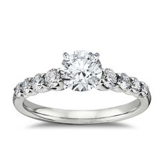 This #diamond #engagement ring setting crafted in 14k white gold. http://www.jangmijewelry.com/
