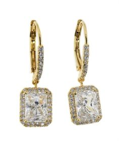 Gold Square Drop Earring   $15