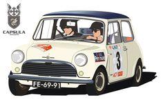 AIRFIX RALLYE MONTE CARLO MINI COOPER SLOT CAR 1967 A4 t Encadré Affiche Signe