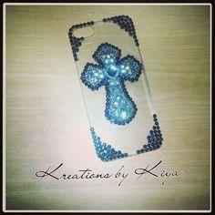 iPhone 5 cross case, bling phone case