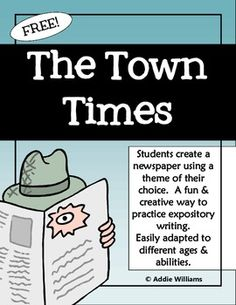EXPOSITORY WRITING - STUDENTS CREATE A THEMED NEWSPAPER - TeachersPayTeachers.com
