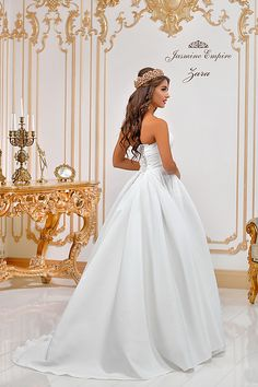 Suknie ślubne Kraków Jasmine, One Shoulder Wedding Dress, Empire, Wedding Dresses, Fashion, Bride Dresses, Moda, Bridal Gowns, Fashion Styles