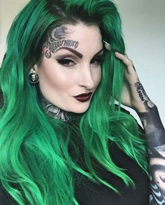 #Emerald Green Hair