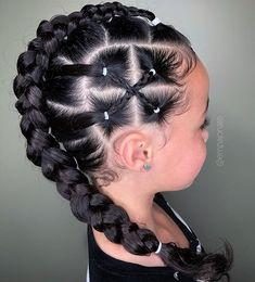 50 Easy Hairstyles For Black Women Baby Girl Hairstyles Black easy hairstyles women Lil Girl Hairstyles, Kids Braided Hairstyles, Box Braids Hairstyles, Mixed Kids Hairstyles, Toddler Hairstyles, Cornrow Hairstyles Natural Hair, Hairstyles For Black Kids, Choppy Hairstyles, Girl Hair Dos