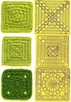 Transcendent Crochet a Solid Granny Square Ideas. Inconceivable Crochet a Solid Granny Square Ideas. Crochet Motifs, Granny Square Crochet Pattern, Crochet Diagram, Crochet Blocks, Crochet Chart, Crochet Squares, Crochet Patterns, Granny Squares, Knitting Patterns