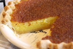 Lemon Chess Pie. A wonderful pie for your guests; just needs a cup of hot joe!