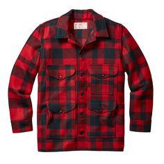 Filson Mackinaw Cruiser - red black