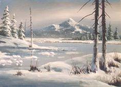 Jerry Yarnell 8818 Four Seasons Winter art dvd - acrylic painting techniques art videos