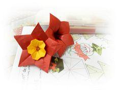 Campainha Vermelha com Miolo de Mini-Alamanda, sugestão de Elisa Tchami na Convenção Dobras 2012