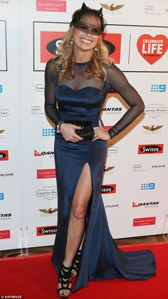 Controversial choice: TV personality Sonia Kruger hit the red carpet on Friday night wearing custom Viktoria Novak headpiece