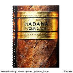 Personalized Vip Cuban Cigars Habana Notebook