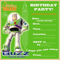 Download Now Toy Story Birthday Party Invitation Ideas  Download this invitation for FREE at http://www.bagvania.com/toy-story-birthday-party-invitation-ideas.html