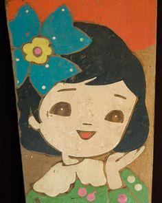 Vintage Japan Hagoita Paddle Hanetsuki New Year Game Japanese TokaidoSoftypapa