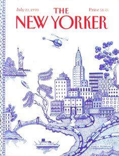 Pamela Paparone's New Yorker cover 1990.