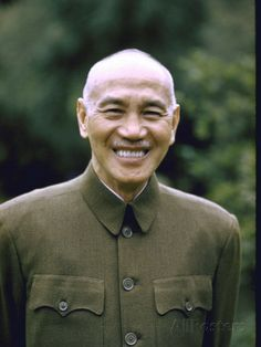 Smiling Portrait of General Chiang Kai-Shek in 1960s, when he has accepted his fate, i guess.