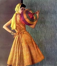 Dress by Givenchy, photograph by Philippe Pottier, 1955.