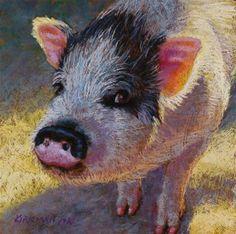 """Pinky - original pastel painting by Rita Kirkman"" - Original Fine Art for Sale - © Rita Kirkman"