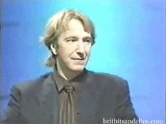 """Alan Rickman telling a story in an interview, discussing the making of """"Robin Hood: Prince of Thieves"""" and several other productions"""