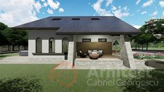 Casa cu etaj 62 | Proiecte de case personalizate | Arhitect Gabriel Georgescu & Echipa Gazebo, Outdoor Structures, House, Design, Kiosk, Haus, Design Comics, Homes