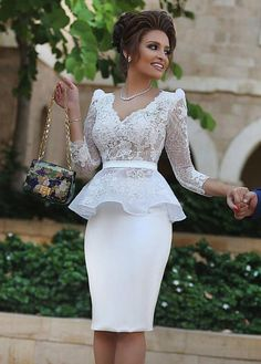 Buy discount Beautiful Tulle & Satin V-neck Neckline Long Sleeves Mermaid Mother Of The Bride Dresses With Lace Appliques & Hot Fix Rhinestones & Sash at Magbridal.com