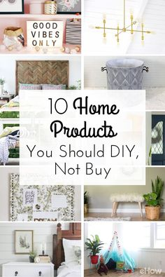 These DIYs will save you so much money! Don't buy these 10 items, make them yourself with our easy tutorials: http://www.ehow.com/how_12343700_10-home-products-should-diy-not-buy.html?utm_source=pinterest.com&utm_medium=referral&utm_content=curated&utm_campaign=fanpage