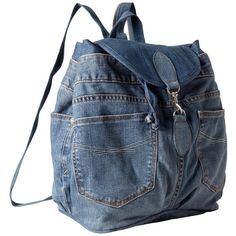 Recycled 1969 denim backpack | Gap (€85) ❤ liked on Polyvore featuring bags, backpacks, gap bag, knapsack bags, blue bag, denim bag and backpacks bags