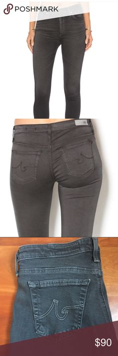 AG Skinny Jeans Adriano Goldschmied super skinny jeans in gray. Very good condition- only worn a few times. Size 28 regular Ag Adriano Goldschmied Jeans Skinny