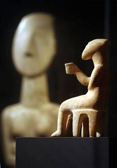 The Cupbearer, Cycaldic figure from around the 3rd- 2nd millenia BCE