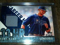 "2015 Topps ""Career High"" Game-Used Memoribilia Card EVAN LONGORIA #CRH-EL Rays #TampaBayRays"