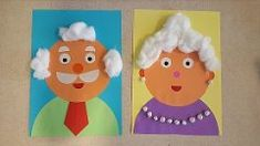 Opa en oma kinderboekenweek 2016 japan crafts, k crafts, preschool crafts, crafts Japan Crafts, K Crafts, Paper Roll Crafts, Crafts For Kids, Grandparents Day Activities, Grandparents Day Cards, Quotes Girlfriend, Family Theme, Grands Parents