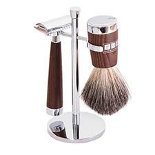 A classic Mach3 shaving set that represents the very spirit of Fitzrovia in its simple lines, classic shape and opulent detailing