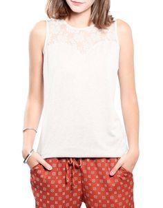 Camiseta sin mangas blonda Shana 9,99€ www.shana.com #tshirt #trends #clothes