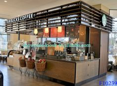 coffee store furniture, mobile coffee bar, coffee shop counters with led lights