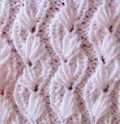 Knit Pattern * ALMOND FLOWER *