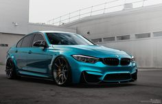 Atlantis Blue #BMW #M3 with Brixton Forged WR3 Ultrasport+ #Wheels #cars #sportscars #turbo #style #design #rims #luxury More from Brixton Forged >> http://www.motoringexposure.com/featured-fitment/brixton-forged/