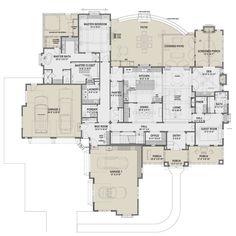 Best House Plans, Dream House Plans, House Floor Plans, My Dream Home, Unique Floor Plans, Mountain House Plans, Bedroom Floor Plans, Big Houses, Dream Houses