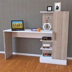 DIY computer desk ideas - do you want to make your own computer desk for your room or dorm? This is 21 list of DIY computer desk ideas with plans for your guide! Home Office Design, Home Design, Interior Design, Home Decor Furniture, Furniture Design, Computer Desk Design, Study Table Designs, Sweet Home, Room Decor