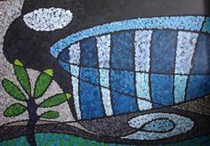 Maracanã - 1120x80cm Acrílico sobre tela por Francisco Amorim
