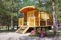 Gipsy Caravan Family Camping in Domaine de Dienné - Loire / France