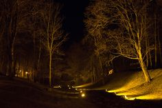 River of lights - At nights in the heart of Kuldīga flows a river of lights.