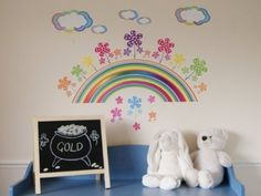 £11.50 RAINBOW & FLOWER Large Wall Stickers for Girls Bedroom or Childrens Playroom (Kids Stickarounds) Approx Size Example: Size of Rainbow Sticker = 67cm x 12.5cm: Amazon.co.uk: Kitchen & Home Large Wall Stickers, Girls Wall Stickers, Rainbow Flowers, Tween Girls, Girls Bedroom, Ava, Playroom, Cold, Amazon