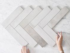 Annandale Concrete Look Subway Tile Polished Concrete Tiles, Concrete Look Tile, Floor Tile Grout, Bathroom Floor Tiles, Small Bathroom With Bath, Master Bathroom, Kitchen Splashback Tiles, Online Tile Store, Tile Stores