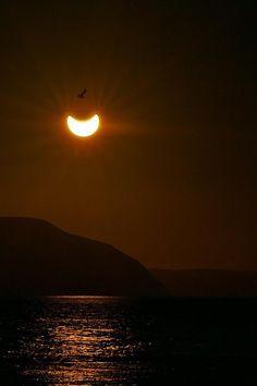 Partial solar eclipse.