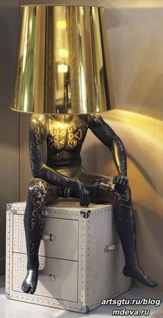 Funky Furniture, Unique Furniture, Furniture Design, Luminaire Original, Diy Luminaire, Mannequin Art, Creation Deco, Light Art, Home Decor Accessories