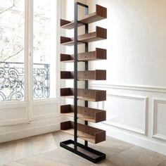 Bibliothèque bois acier