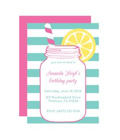 Free Mason Jar Printable Party Invitation from - much thanks to the folks at Chicfetti for the adorable free party printables! Free Printable Party Invitations, Make Your Own Invitations, Party Printables, Free Printables, Print Invitations, Printable Templates, Invitation Templates, Mason Jar Party, Mason Jars