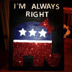 Original republican girl raised right canvas!